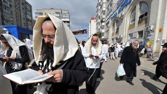 Une importante communauté juive est établie en Ukraine (ici, à Uman). [Serguei Supinsky - AFP]