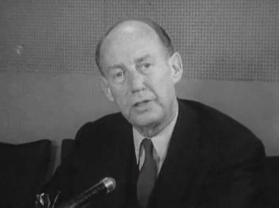 Ambassadeur Stevenson, représentant des Etats-Unis - Continents sans visa, 25 mars 1962. [RTS]