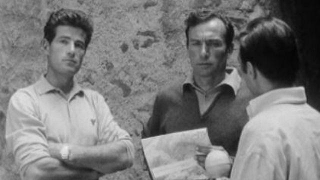Michel Darbellay et Ami Giroud en 1967 [RTS]