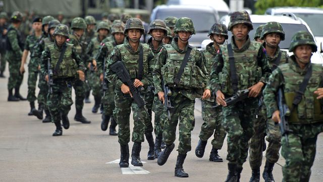 Le chef de l'armée de terre a annoncé le coup d'Etat à la télévision. [Pornchai Kittiwongsakul - AFP]