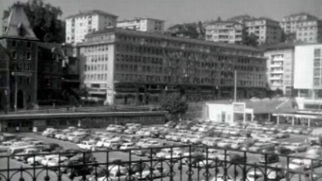 Un vaste parking souterrain est en projet au coeur de Lausanne. [RTS]