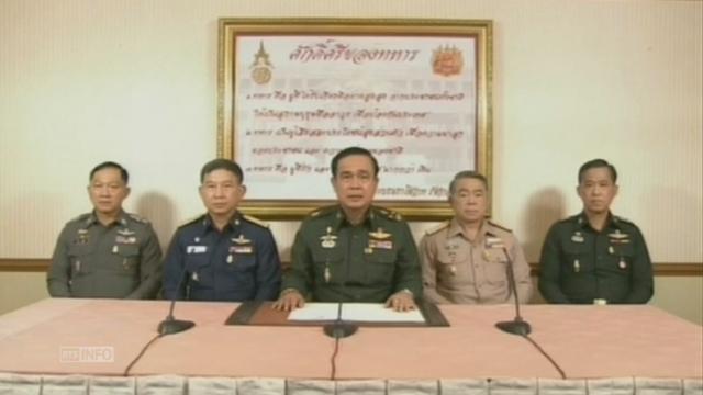 L'armée thaïlandaise annonce en direct un coup d'Etat [RTS]