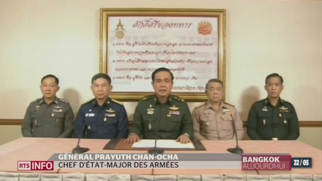 Thaïlande: l'armée a pris le contrôle du gouvernement et la constitution est suspendue [RTS]