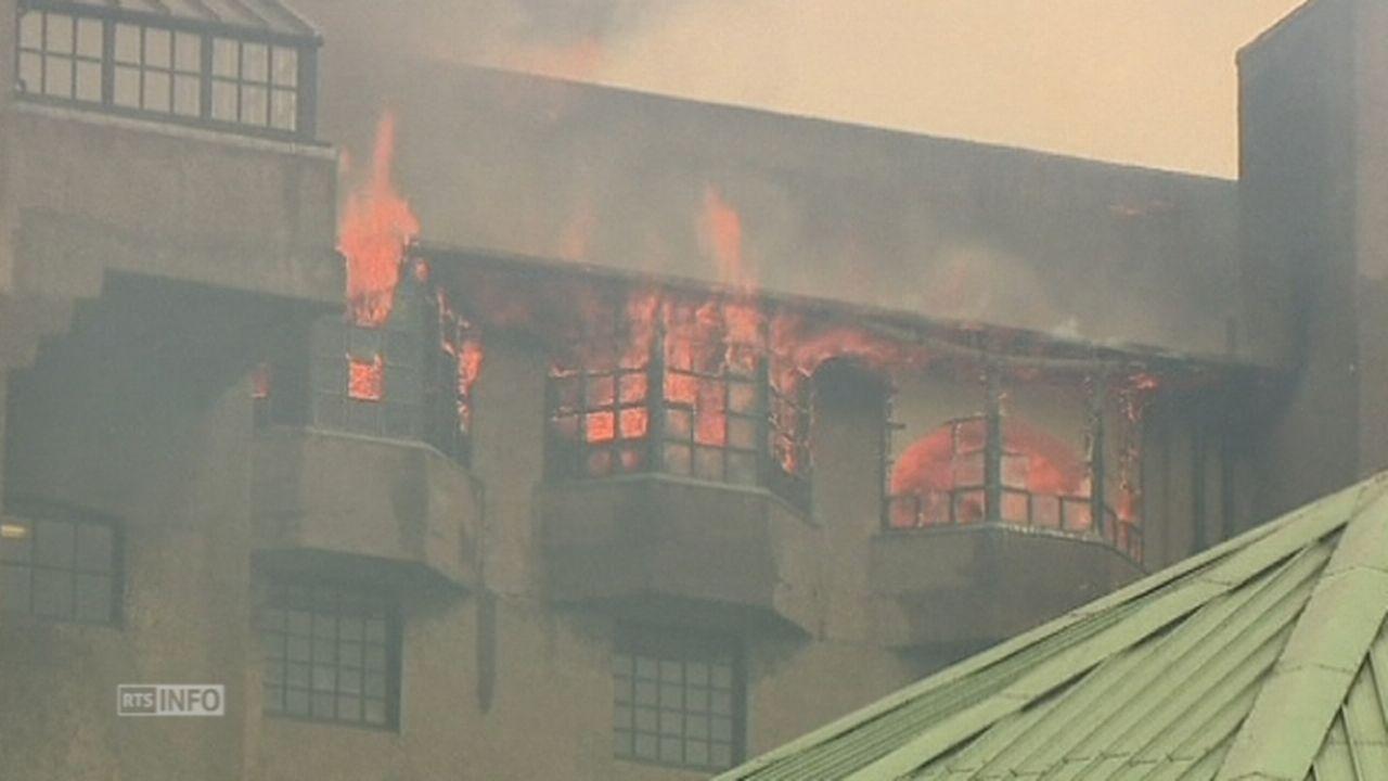 La célèbre Glasgow School of Art ravagée par les flammes [RTS]