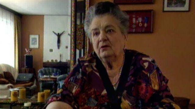 Mimi Brühlmann raconte sa déportation en Allemagne nazie. [RTS]