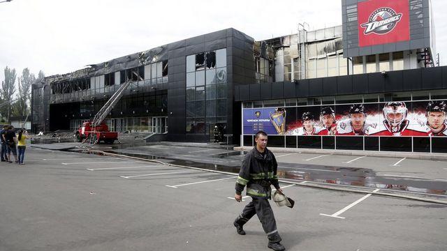 Donetsk a été le théâtre d'intenses combats lundi pour le contrôle de l'aéroport international. [Maxim Shipenkov - EPA]