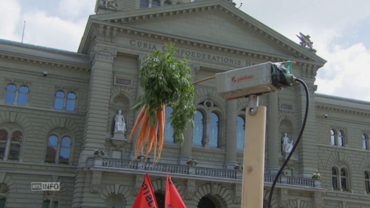 Manifestation du Parti Pirate a Berne [RTS]