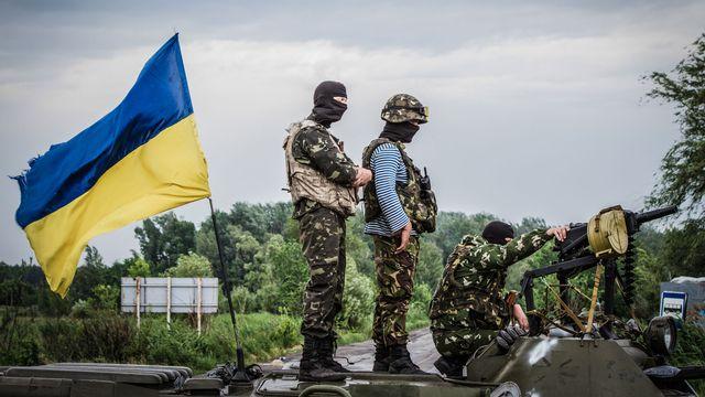 Forces ukrainiennes à proximité de Slaviansk. [Sergii Kharchenko/NurPhoto - AFP]