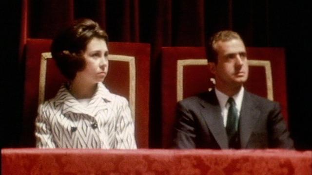 Juan Carlos d'Espagne et son épouse en 1970. [RTS]