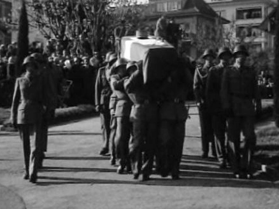 Obsèques du général Guisan, 1960. [RTS]