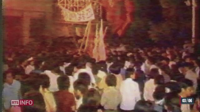 Chine: le 4 juin 1989, des milliers d'étudiants manifestaient sur la place Tian'anmen [RTS]