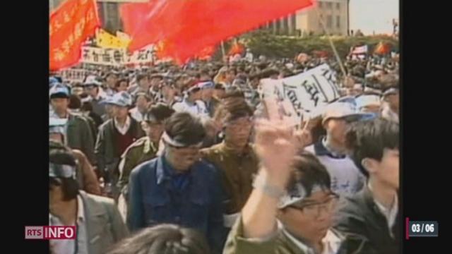 Chine - Contestation: le régime chinois fait tout pour occulter les événements de 1989 [RTS]