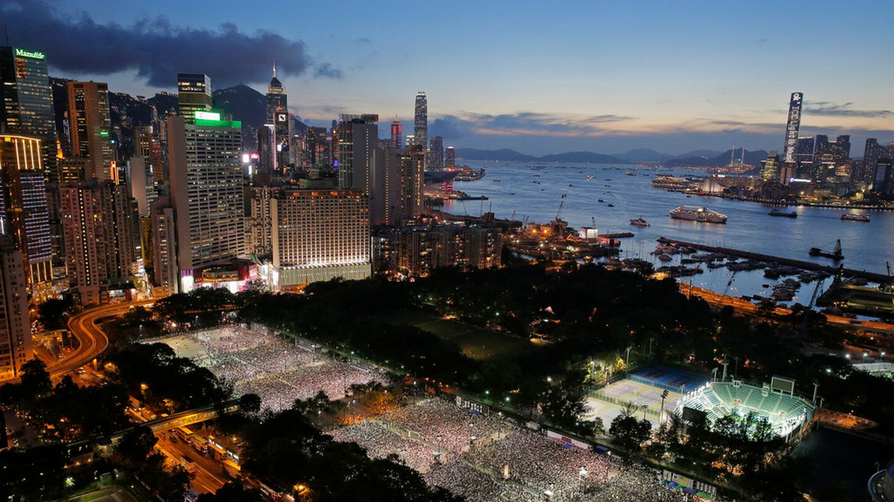 25ème anniversaire Tiananmen, Hong-Kong, Chine, manifestation, commémoration, Pékin. [Vincent Yu - AP Photo]