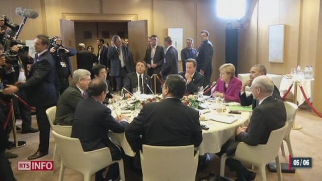 le G7 a appelé Vladimir Poutine à faire baisser les tensions en Ukraine [RTS]