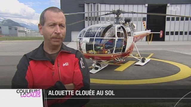L'appareil emblématique d'Air Glacier, l'Alouette 3, ne volera plus à partir du 18 juin prochain [RTS]