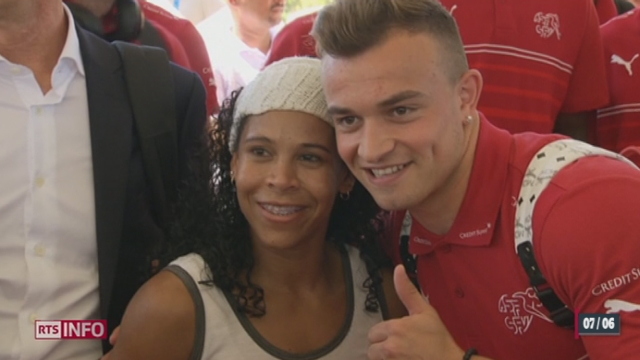 Coupe du Monde: l'équipe helvétique est arrivée au Brésil [RTS]