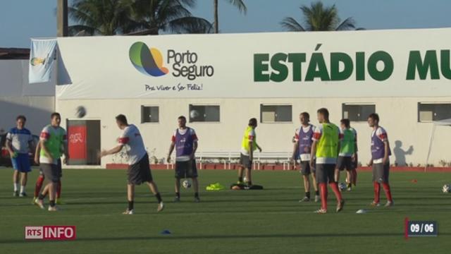 Brésil: l'entraînement public de l'équipe suisse a attiré beaucoup de monde [RTS]