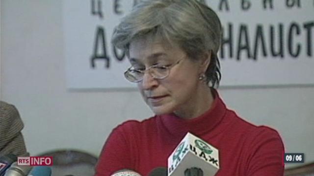 Russie: cinq hommes ont été condamnés à Moscou pour le meurtre de Anna Politkovskaïa [RTS]
