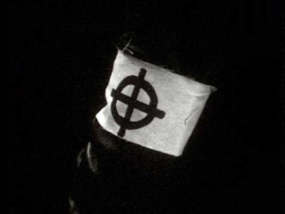 La Croix celtique, symbole du mouvement d'extrême-droite Ordre nouveau en 1971. [RTS]
