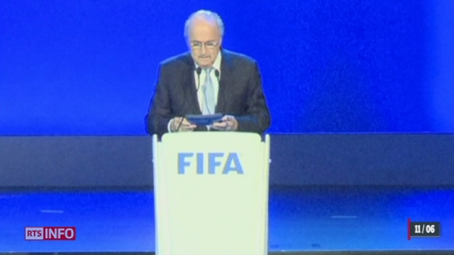 La question de la  succession de Sepp Blatter a été posée lors du congrès de la FIFA ce mercredi [RTS]