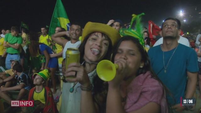 Mondial Brésil: les supporters brésilien étaient aux anges [RTS]