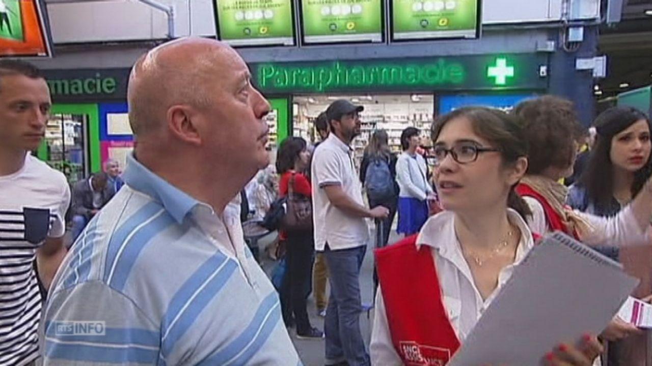Passagers excédés par la grève à la SNCF [RTS]