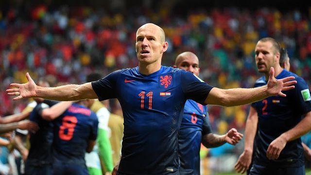 Arjen Robben a donné le tournis à la défense espagnole. [Damien Meyer - AFP]
