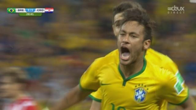 Groupe A, BRA-CRO (1-1): Neymar prend ses responsabilités et libère son pays en ramenant les 2 équipes à égalité à la 29e minute [RTS]