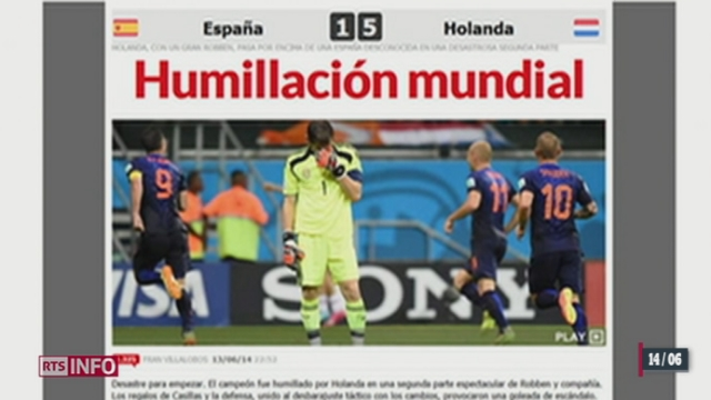 Coupe du Monde: la défaite de l'Espagne face aux Pays-Bas était inattendue [RTS]