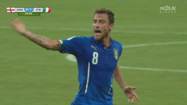 Groupe D, ANG-ITA (0-1): la magnifique frappe de Marchisio permet aux Italiens d'ouvrir le score [RTS]