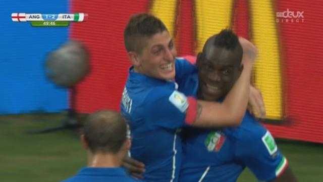 Groupe D, ANG-ITA (1-2): l'Italie repasse devant avec ce coup de tête victorieux de Mario Balotelli [RTS]