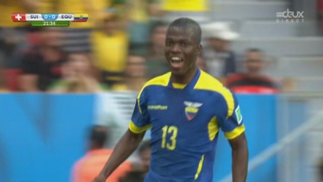 Groupe E, Suisse-Equateur (0-1) : l'Equateur ouvre le score avec un but de Valencia Lastra [RTS]
