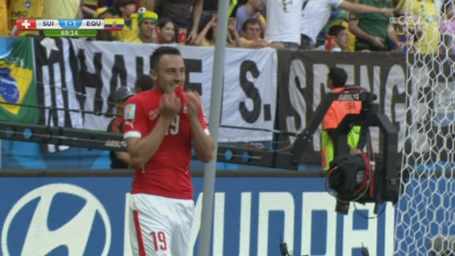 Groupe E, SUI-EQU (1-1) : le but de Josip Drmic est finalement sifflé hors-jeu [RTS]