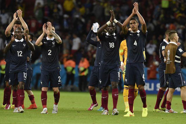 """Les """"Bleus"""" ont rempli leur contrat. [Juan Barreto - AFP]"""