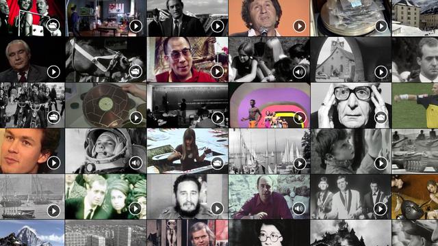 Sur RTSarchives, des milliers d'heures d'images et de sons. [RTS]