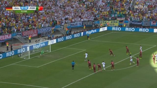 Groupe F, ALL-POR (1-0): l'Allemagne ouvre le score sur un penalty de Müller [RTS]