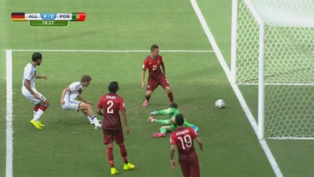 Groupe G, ALL-POR (4-0): les allemands s'acharnent devant le but portugais et Muller finir par marquer [RTS]