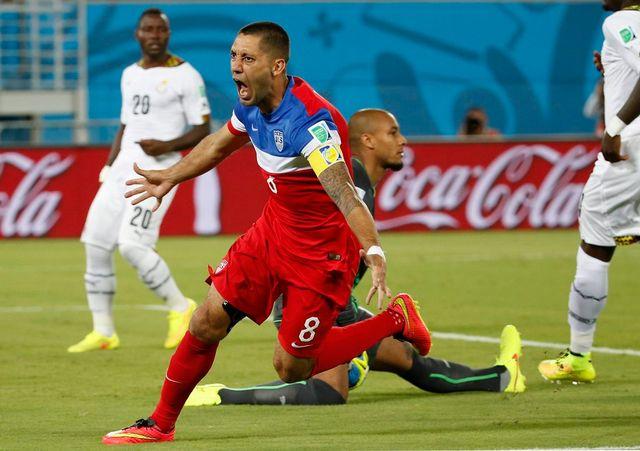 Dempsey a inscrit le 5e but le plus rapide de l'histoire de la Coupe du monde. [KAMIL KRZACZYNSKI - Keystone]