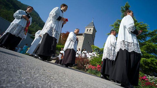 Ecône, en Valais, est le siège du séminaire international de la Fraternité sacerdotale Saint-Pie-X (FSSPX) que Mgr Marcel Lefebvre a fondée en 1971. [Olivier Maire - Keystone]