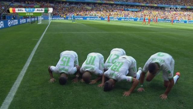Groupe H, BEL-ALG (0-1): ouverture du score pour l'Algérie sur un penalty frappé par Feghouli [RTS]