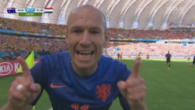Groupe B, AUS-NED (0-1): belle action d'Arjen Robben qui ouvre le score [RTS]