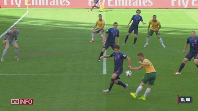 Coupe du monde: Les Pays-Bas ont battu l'Australie (3-2) dans un match spectaculaire [RTS]