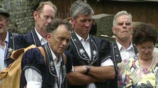 Une assemblée d'armaillis sur la prairie du Grütli, tout un symbole.