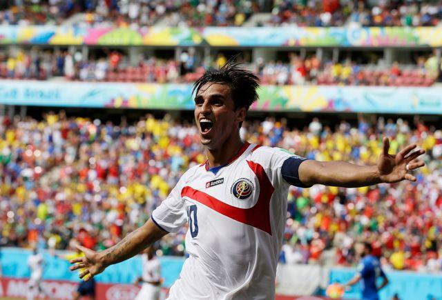 Bryan Ruiz a fait le malheur de l'Italie et de l'Angleterre, en inscrivant l'unique but de la rencontre. [Ricardo Mazalan - Keystone]