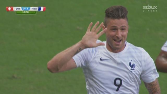 Groupe E, SUI-FRA (0-1): ouverture du score sur belle reprise de la tête de Giroud [RTS]