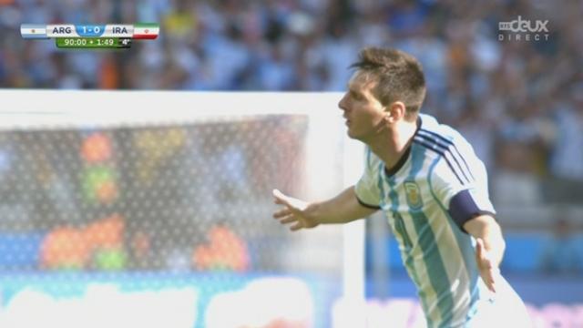 Groupe F, ARG-IRA (1-0): l'Argentine ouvre le score sur une superbe frappe enroulée de Lionel Messi dans le temps additionnel [RTS]