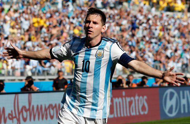 Un éclair de Messi permet à l'Argentine d'assurer la qualification. [Jon Super - Keystone]