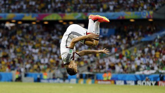 Klose est définitivement entré dans l'histoire de la Coupe du monde. [Frank Augstein - Keystone]
