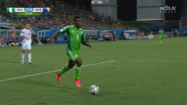 Groupe F, NGR-BIH (1-0): ouverture du score des Nigérians avec cette réussite de Peter Odemwingie [RTS]