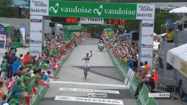 9e étape, Martigny-Saas Fee: victoire de Rui Costa qui remporte également le Tour de Suisse pour une 3e fois consecutive [RTS]